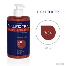 Masca nuantatoare  pentru păr Haute Couture NewTone 7/34 Blond inchis auriu-aramiu 435 ml