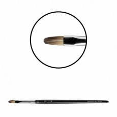 "Pensula pentru gel ""Didier Lab"",No6, oval flat,(samur rosu sintetic),1buc/Gel brush,No6,oval(red sable"