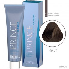 Prince vopsea permanenta pentru par 6/71 Blond inchis maro-cenusiu 100 ml