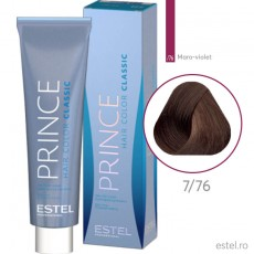 Prince Vopsea permanenta pentru par 7/76 Blond mediu maro-violet 100 ml