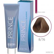 Prince vopsea permanenta pentru par 8/76 Blond deschis maro-violet 100 ml