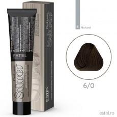 Vopsea permanenta de par De Luxe SILVER 6/0 Blond inchis 60 ml