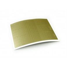 "Stiker pentru unghii ""Didier Lab"", Nr25, gold/Nail art sticker ""Didier lab"", No25, gold"