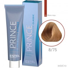 Prince Vopsea permanenta pentru par 8/75 Blond deschis maro-rosu 100 ml