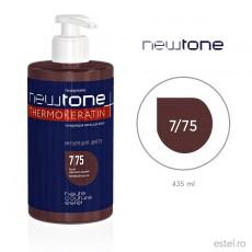 Masca nuantatoare  pentru păr Haute Couture NewTone 7/75 Blond maroniu rosu 435 ml