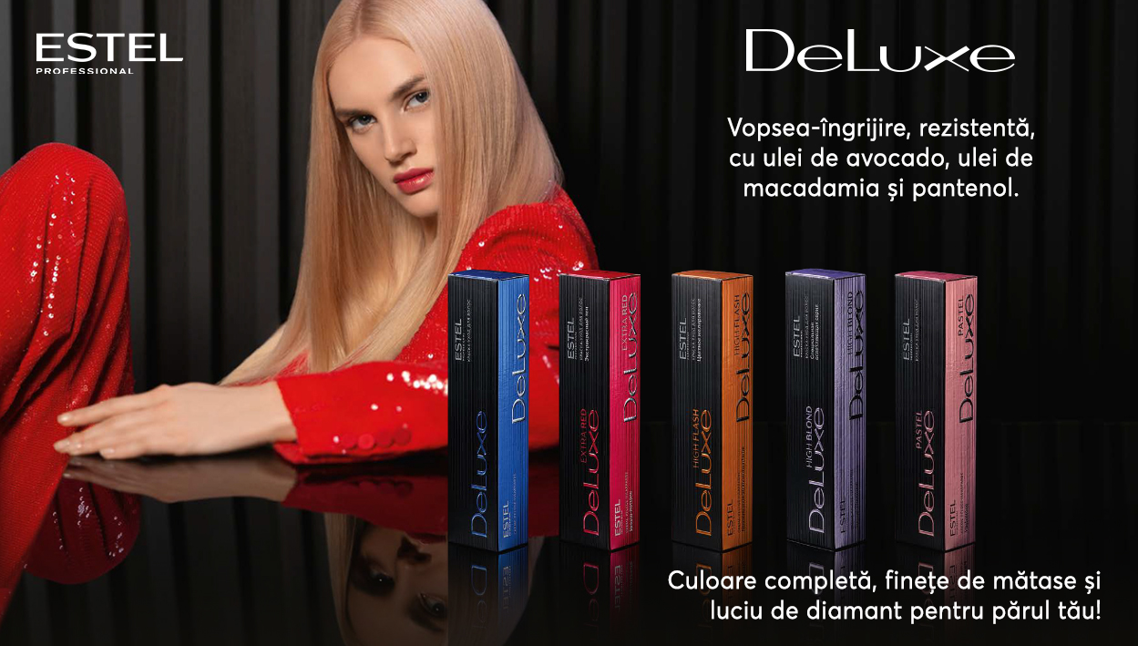 DeLuxe Estel Professional, vopseaua potivită părului tau - culori intense și păr sănătos