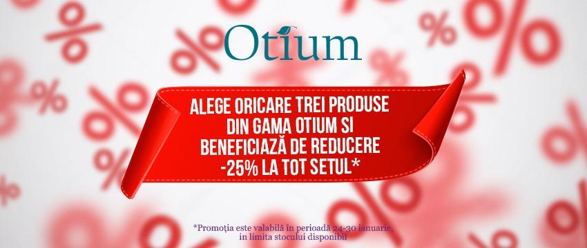Promotia de iarnă - reducere de 25% la produsele Otium