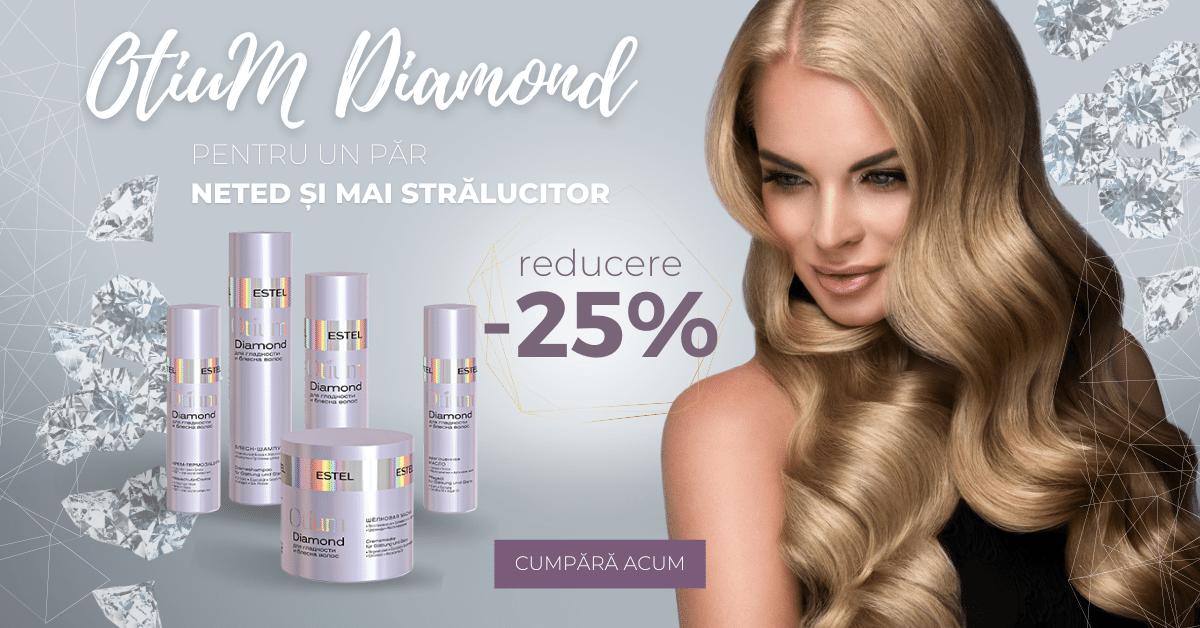 Gama de îngrijire pentru strălucirea, netezirea și protecția termică a părului OTIUM Diamond cu -25% reducere